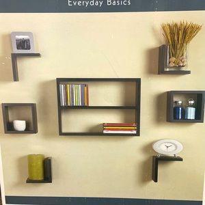 7 Piece Modern Wall Shelf